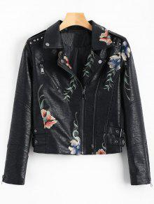 Zaful floral leather jacket