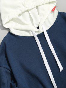 Bolsillos Color De Patr Con Bloque Capucha 2xl Azul 243;n qwAtaY
