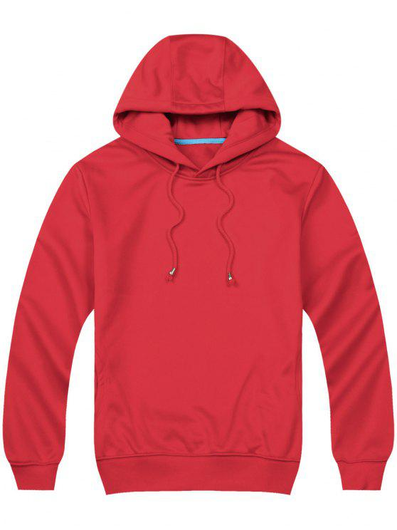 8d549492de2 54% OFF  2019 Pullover Side Pockets Hoodie In RED