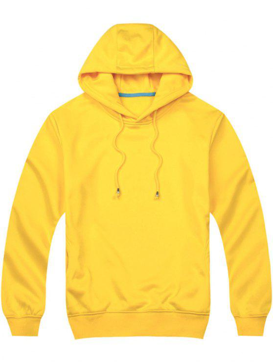 Pullover Side Pockets Hoodie YELLOW: Hoodies & Sweatshirts M | ZAFUL