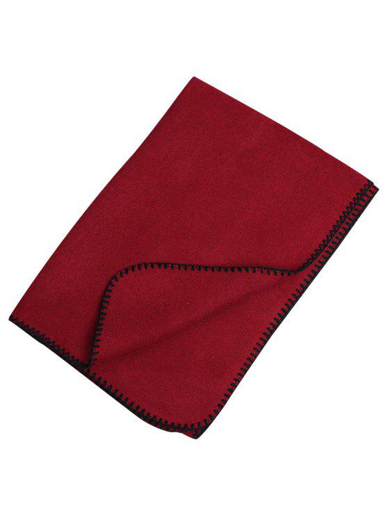 outfit Outdoor Artificial Wool Shawl Pashmina - RED