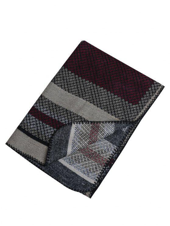 Pashmina di scialle di lana artificiale esterna - Vino rosso