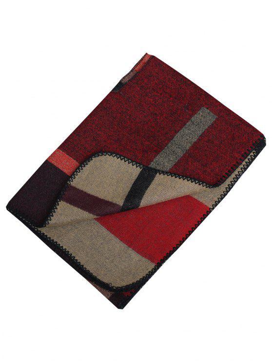 Pashmina di scialle di lana artificiale esterna - Cachi