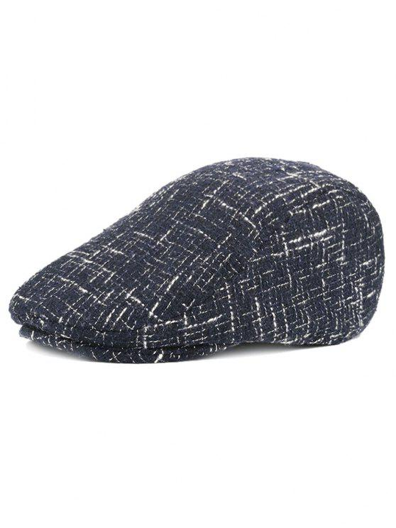 hot Color Splice Pattern Adjustable Newsboy Hat - CADETBLUE