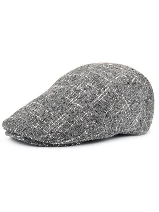 outfit Color Splice Pattern Adjustable Newsboy Hat - GRAY