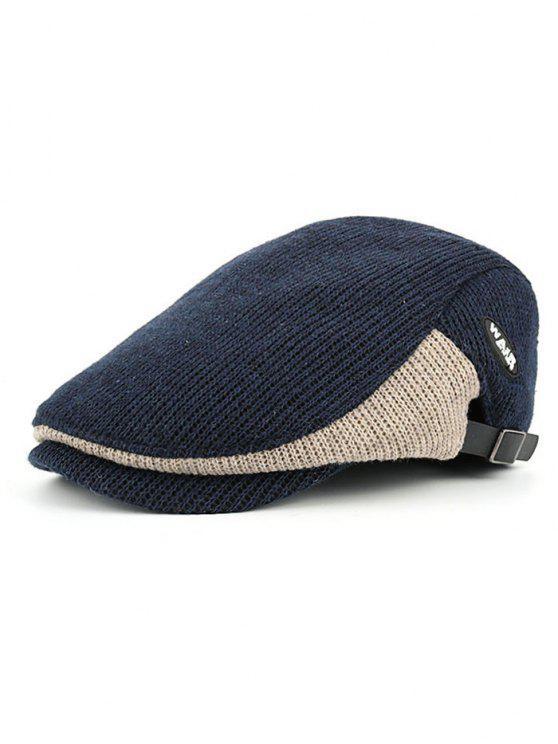 shop Letter Label Decorated Adjustable Duckbill Hat - CADETBLUE