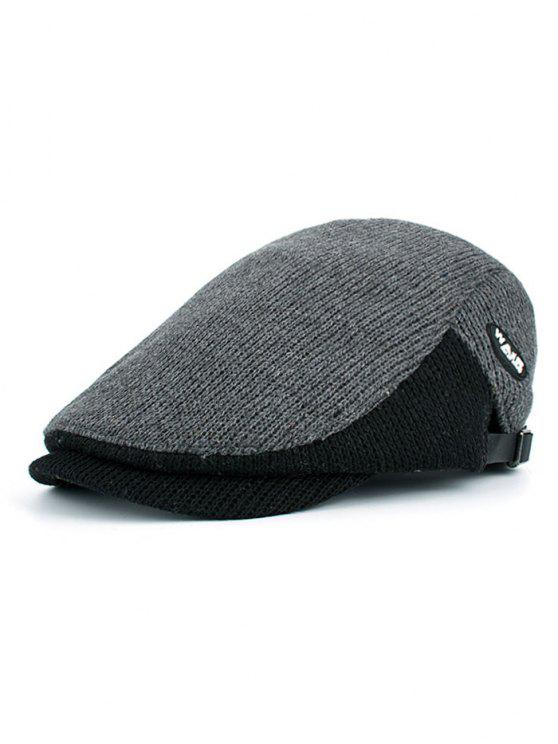 shops Letter Label Decorated Adjustable Duckbill Hat - GRAY