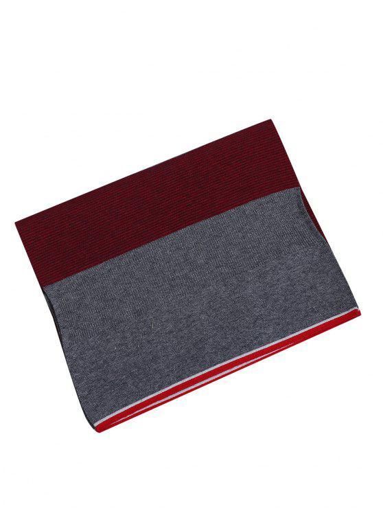 Padrão simples Splice Pattern Crochet Knitted Long Scarf - Vermelho Tinto