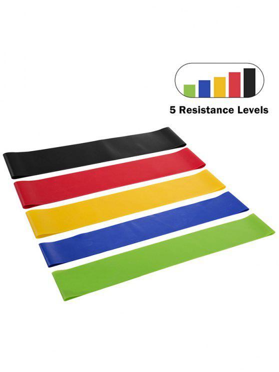 chic 5 Pcs Resistance Stretch Bands for Workout Gym Yoga Leg Training - COLORMIX