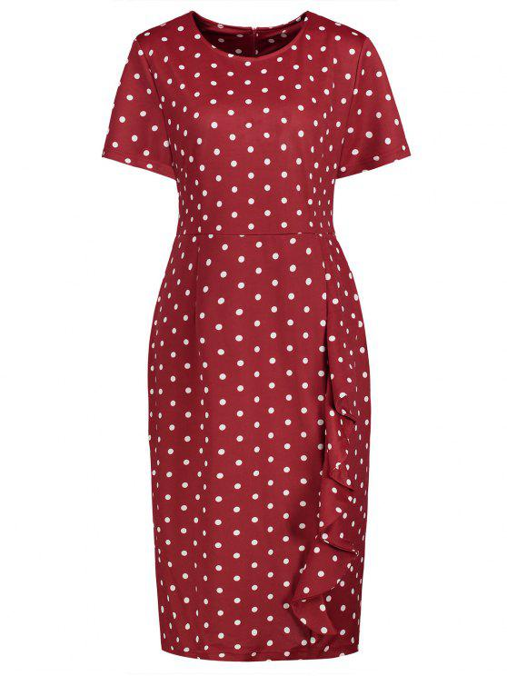 Polka dot dress red plus size