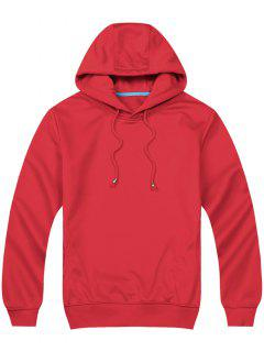 Pullover Side Pockets Hoodie - Red 2xl