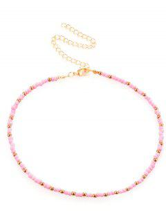 Faux Jewelry Choker Necklace - Pink
