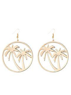 Hollow Out Coconut Tree Earrings - Golden