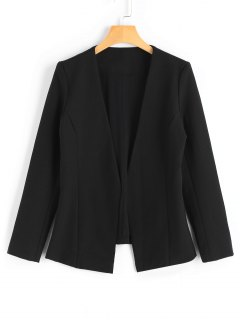 Long Sleeve Open Front Blazer - Black S