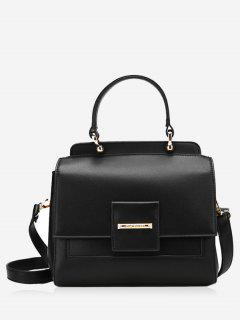 Faux Leather Multi Function Handbag - Black