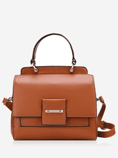 Faux Leather Multi Function Handbag - Brown
