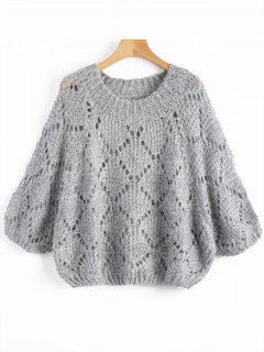 Batwing Chunky Sweater - Gray