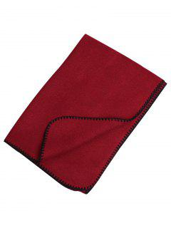 Outdoor Artificial Wool Shawl Pashmina - Red