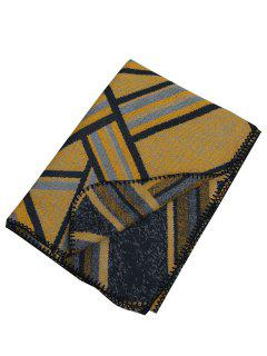 Outdoor Artificial Wool Shawl Pashmina - Yellow