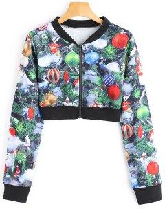 Cropped Printed Christmas Jacket - M