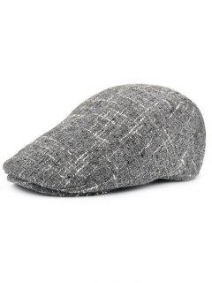 Color Splice Pattern Adjustable Newsboy Hat - Gray
