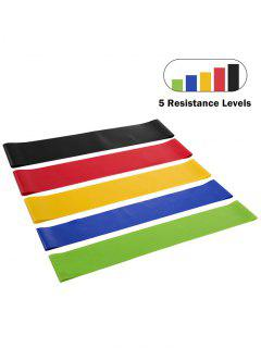 5 Pcs Resistance Stretch Bands For Workout Gym Yoga Leg Training