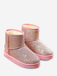 Slip On Glitter Snow Boots - Papaya 37