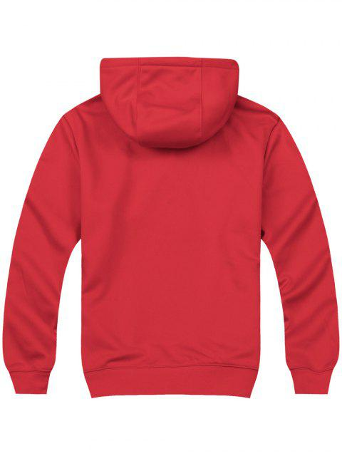 new Pullover Side Pockets Hoodie - RED XL Mobile