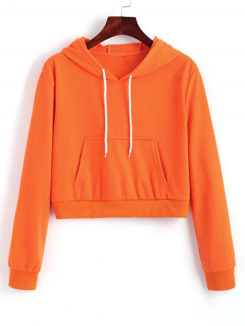Sweat à Capuche Court avec Cordon de Serrage - Tangerine S Mobile