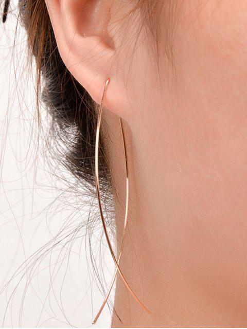 outfit Simple Alloy Fish Hoop Earrings - GOLDEN  Mobile