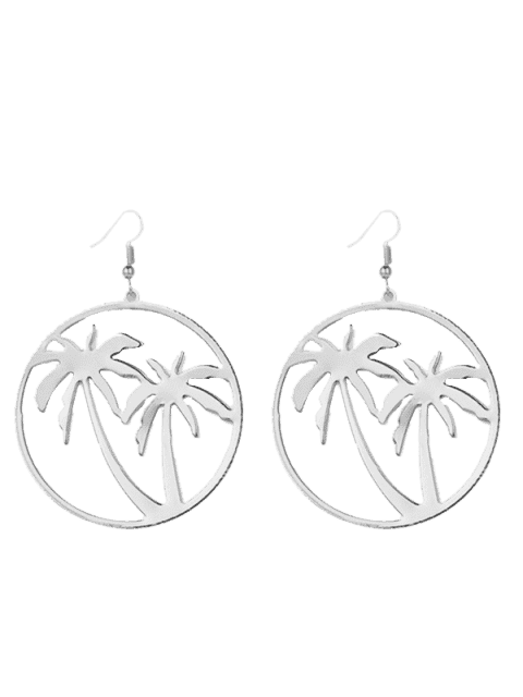 latest Hollow Out Coconut Tree Earrings -   Mobile