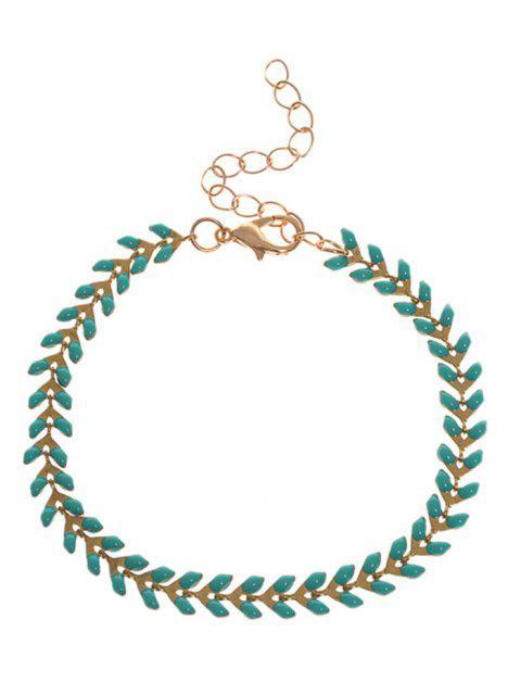 Bracelet à mailles en feuille - Vert  Mobile