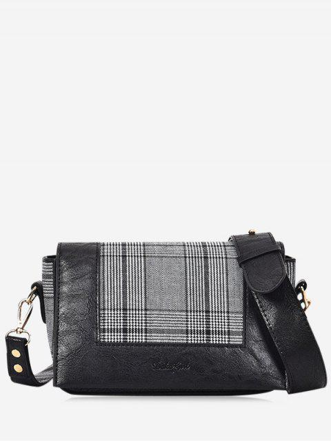 Estampado en relieve bolso de Crossbody - Negro  Mobile