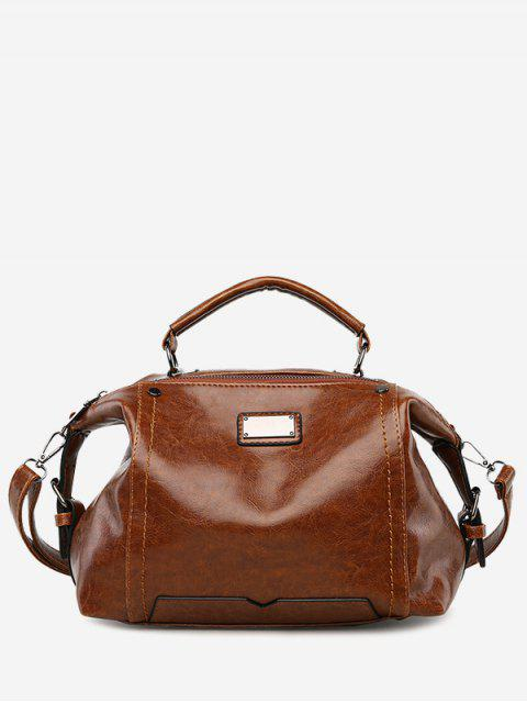 online Multi Function Studs Stitching Handbag - BROWN  Mobile