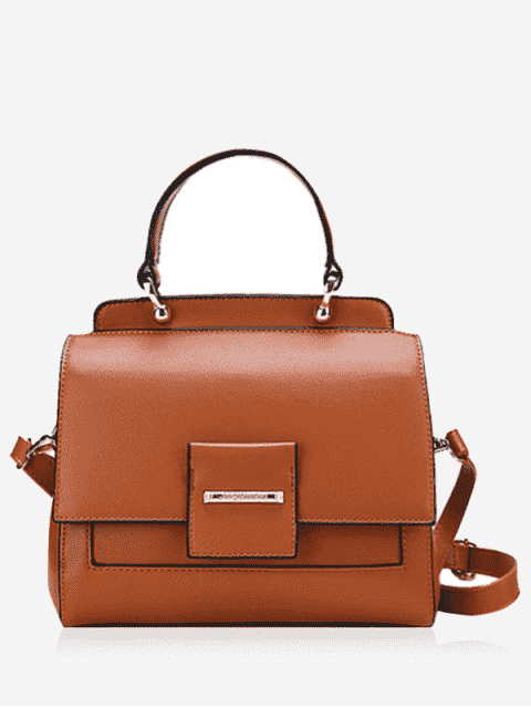 latest Faux Leather Multi Function Handbag - BROWN  Mobile