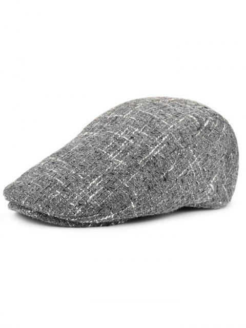 outfit Color Splice Pattern Adjustable Newsboy Hat - GRAY  Mobile
