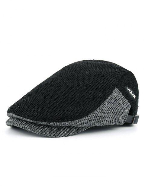outfits Letter Label Decorated Adjustable Duckbill Hat - BLACK  Mobile