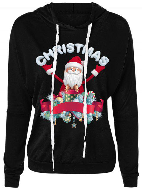 Sudadera con cuello redondo de Santa Claus Drawsring de Navidad - Negro M Mobile