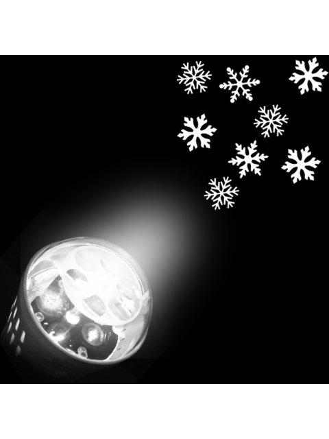 trendy Christmas Snowflakes Pattern Party Decor Projector Light Bulb - WHITE US Mobile