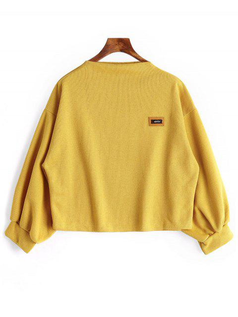 Sweat-shirt à Manches Lanternes Grande Taille - Curcumae 5XL Mobile