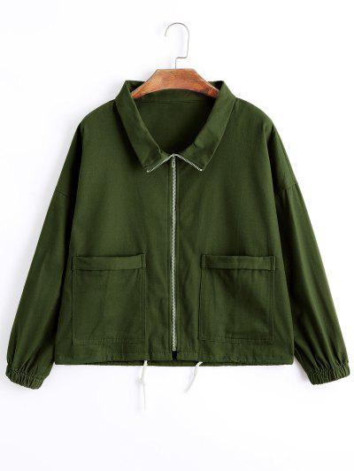 Zip Up Denim Jacket