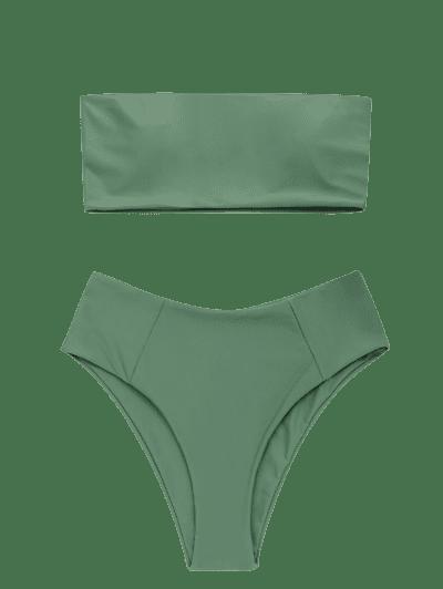 High Cut Bandeau Bathing Suit2
