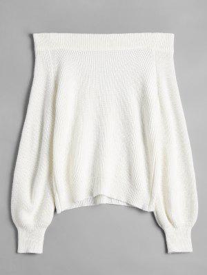 Aus der Schulter Laterne Ärmel Pullover Pullover