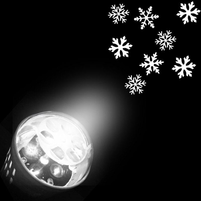 Ampoule de Lumière Projecteur de Formes Décoratives de Flocons de Neige de Noël