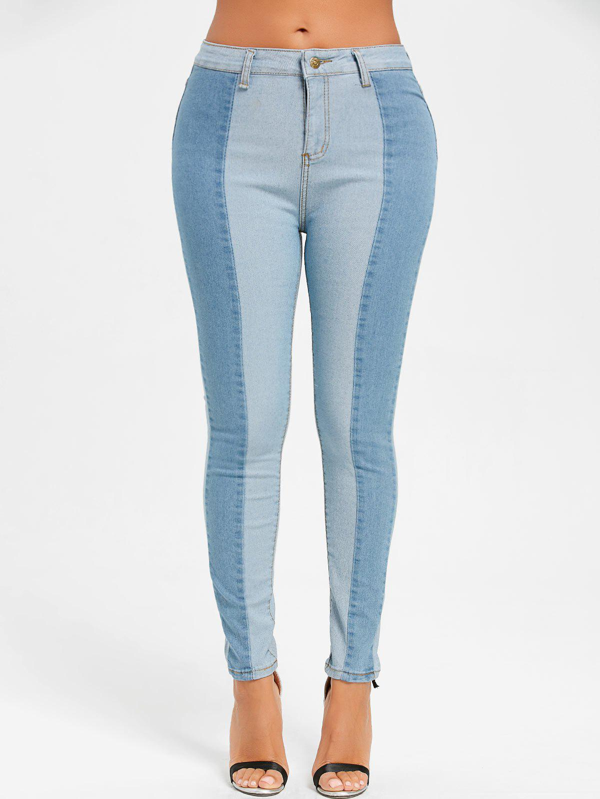 Two Tone Color Denim Jeans 232084904
