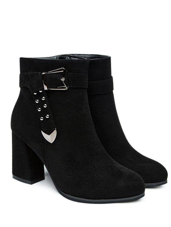 Buckled Strap Ankle Boots 233871303