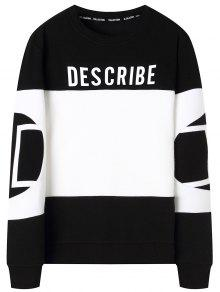 Block Color Negro Sudadera Graphic Describe Xl Y Blanco tfwnqHxPR