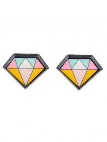 هندسية الماس القرط استيلاد - أسود