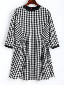 فستان مصغر مستقيم منقوش  - التحقق L