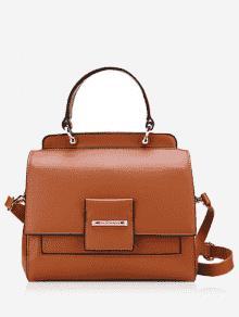 حقيبة يد جلدية متعددة الوظائف - بنى